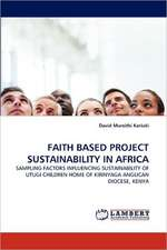 Faith Based Project Sustainability in Africa