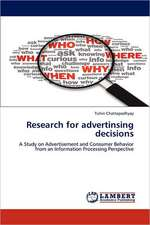Research for Advertising Decision