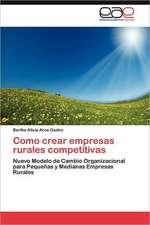 Como Crear Empresas Rurales Competitivas:  Dossier Introductorio