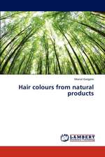 Hair colours from natural products