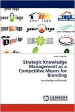 Strategic Knowledge Management as a Competitive Means for Branding