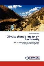 Climate change impact on biodiversity