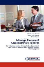 Manage Finance & Administrative Records