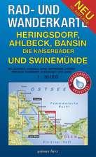 Heringsdorf, Ahlbeck, Bansin - die Kaiserbäder und Swinemünde. Rad- und Wanderkarte