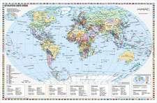 Staaten der Erde, politisch 1 : 40 000 000. Wandkarte Kleinformat ohne Metallstäbe