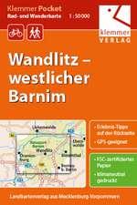 Klemmer Pocket Rad- und Wanderkarte Wandlitz - westlicher Barnim 1 : 50 000