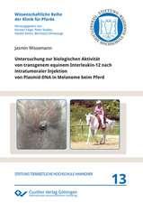 Untersuchung zur biologischen Aktivität von transgenem equinem Interleukin-12 nach intratumoraler Injektion von Plasmid-DNA in Melanome beim Pferd