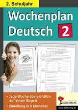 Wochenplan Deutsch 2. Schuljahr