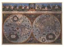 Blaeu's World Map von 1665 (Digitaldruck)
