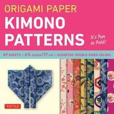 "Origami Paper - Kimono Patterns - Small 6 3/4"" - 48 Sheets: Tuttle Origami Paper: High-Quality Origami Sheets Printed with 8 Different Designs: Instructions for 6 Projects Included"