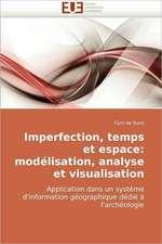 Imperfection, temps et espace: modélisation, analyse et visualisation