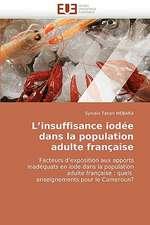 L''Insuffisance Iodee Dans La Population Adulte Francaise:  Concepts, Evaluation Et Mise En Oeuvre