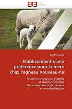Établissement d'une préférence pour la mère chez l'agneau nouveau-né