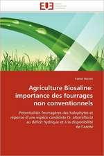 Agriculture Biosaline:  Importance Des Fourrages Non Conventionnels