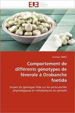 Comportement de différents génotypes de féverole à Orobanche foetida