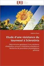 Etude d'une résistance du tournesol à Sclerotinia