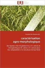 caractérisation agro-morphologique