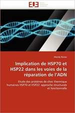 Implication de HSP70 et HSP22 dans les voies de la réparation de l'ADN