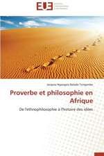 Proverbe Et Philosophie En Afrique:  Solutions Analytiques Pures