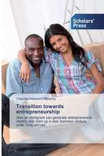 Transition towards entrepreneurship