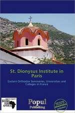 ST DIONYSUS INST IN PARIS