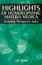 Highlights of Homoeopathy Materia Medica