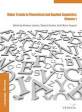 Major Trends in Theoretical and Applied Linguistics 1: Selected Papers from the 20th ISTAL