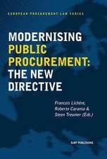 Modernising Public Procurement:  The New Directive