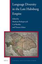Language Diversity in the Late Habsburg Empire