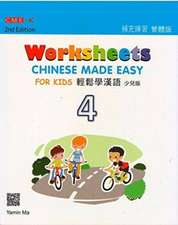 Chinese Made Easy For Kids 4 - worksheets. Traditional character version
