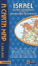 Carta's Israel Super Touring Map:  An Introduction Atlas to Biblical Biography
