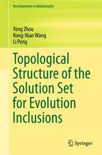 Topological Structure of  the Solution Set for Evolution Inclusions
