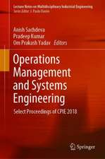 Operations Management and Systems Engineering