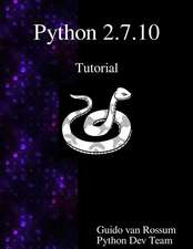 Python 2.7.10 Tutorial:  An Introduction to Python